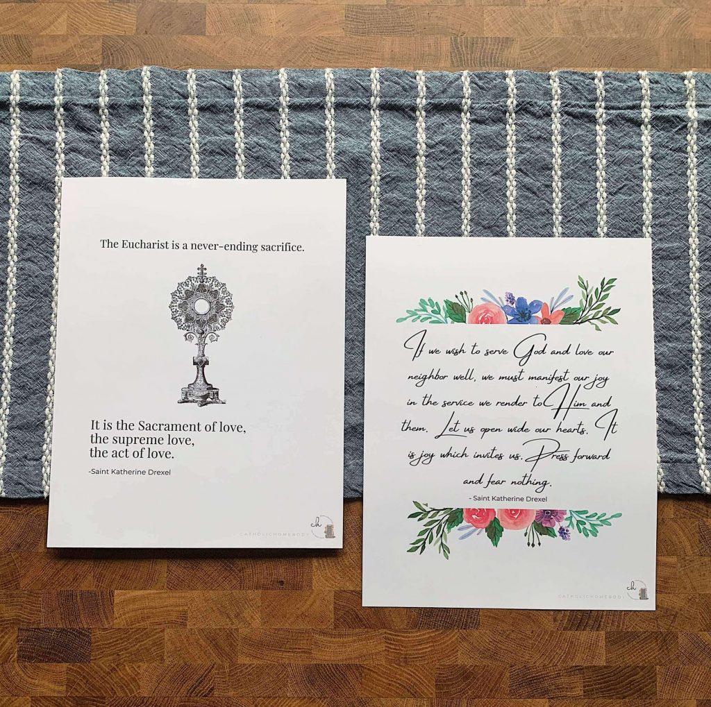 printable saint katherine drexel quotes