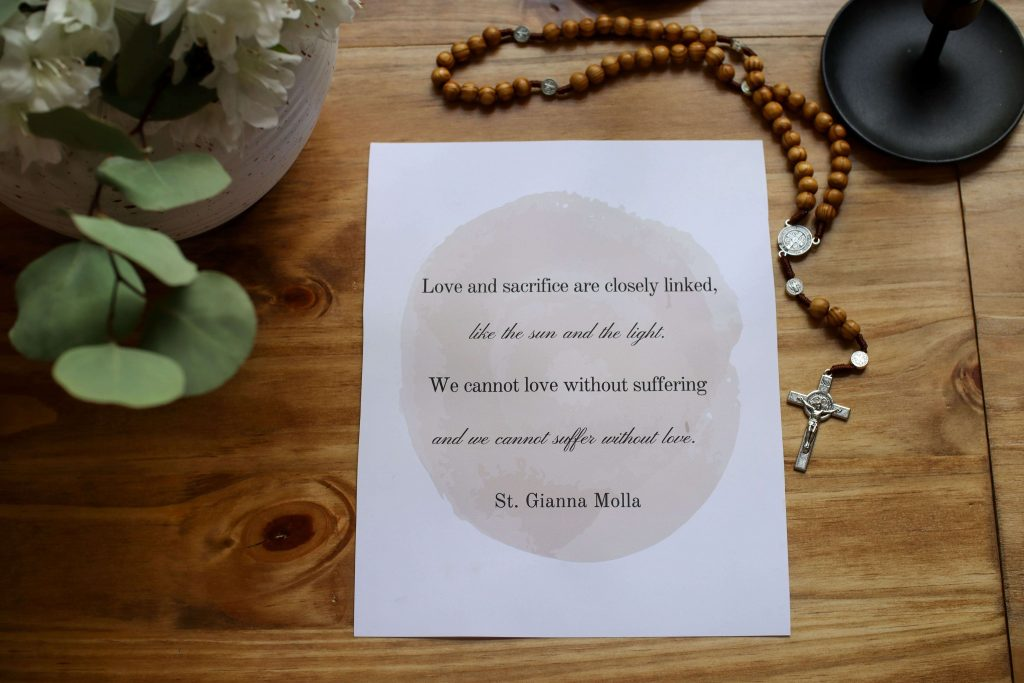Printable St Gianna Quote
