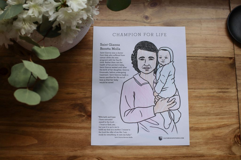 St Gianna Coloring Page