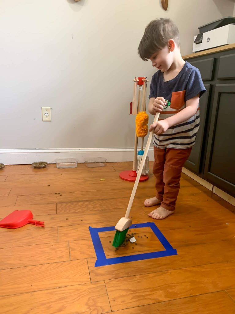 sweeping activity for toddlers