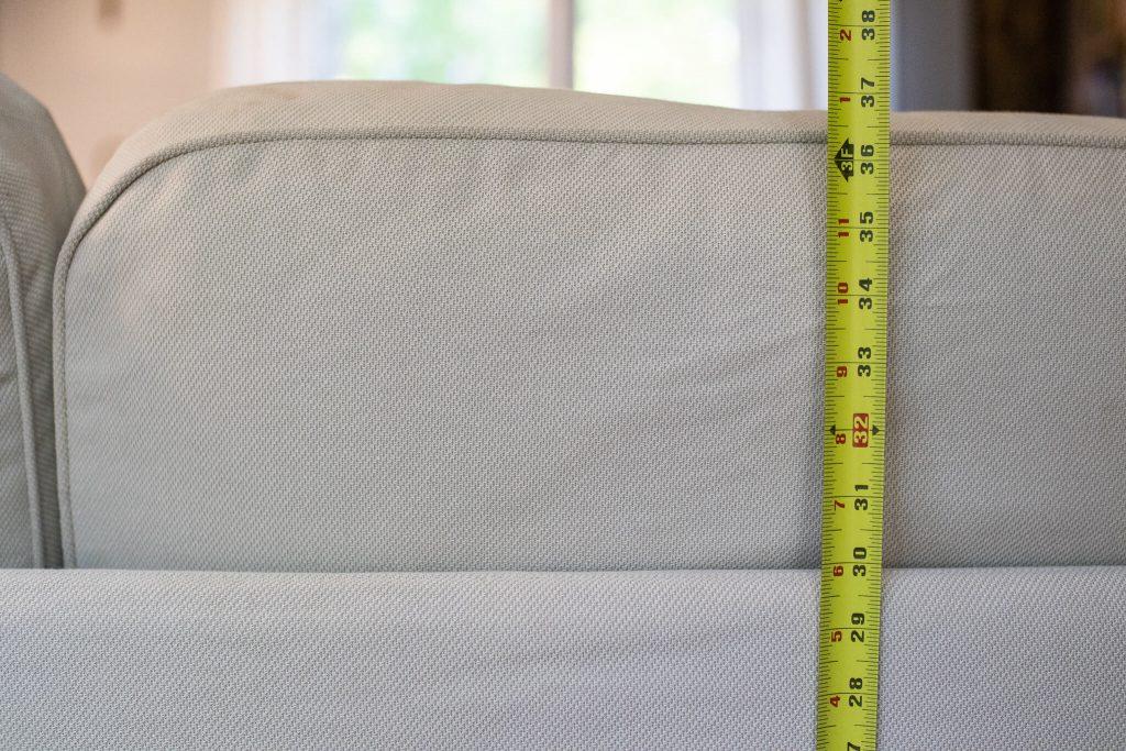 IKEA UPPLAND COUCH HEIGHT