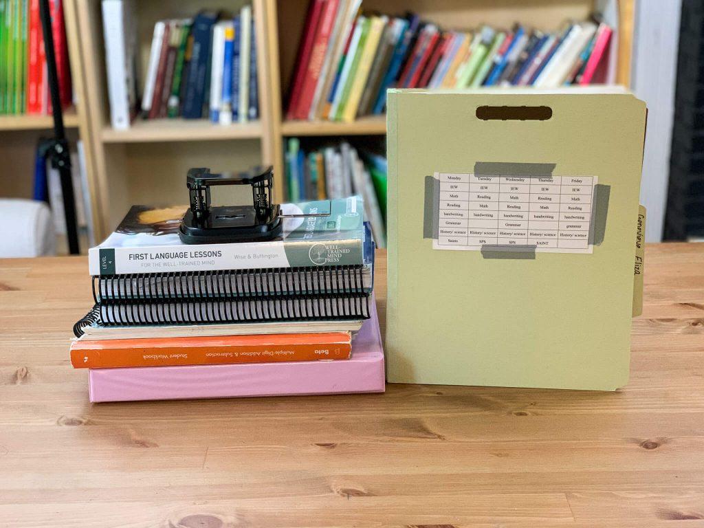 classification folders and homeschool curriculum