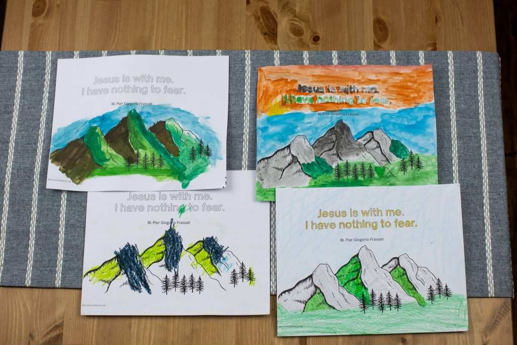 blessed pier Giorgio coloring page