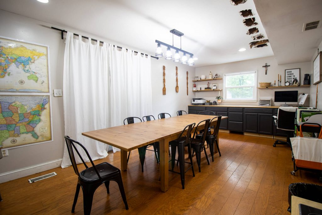 homeschool and dining room
