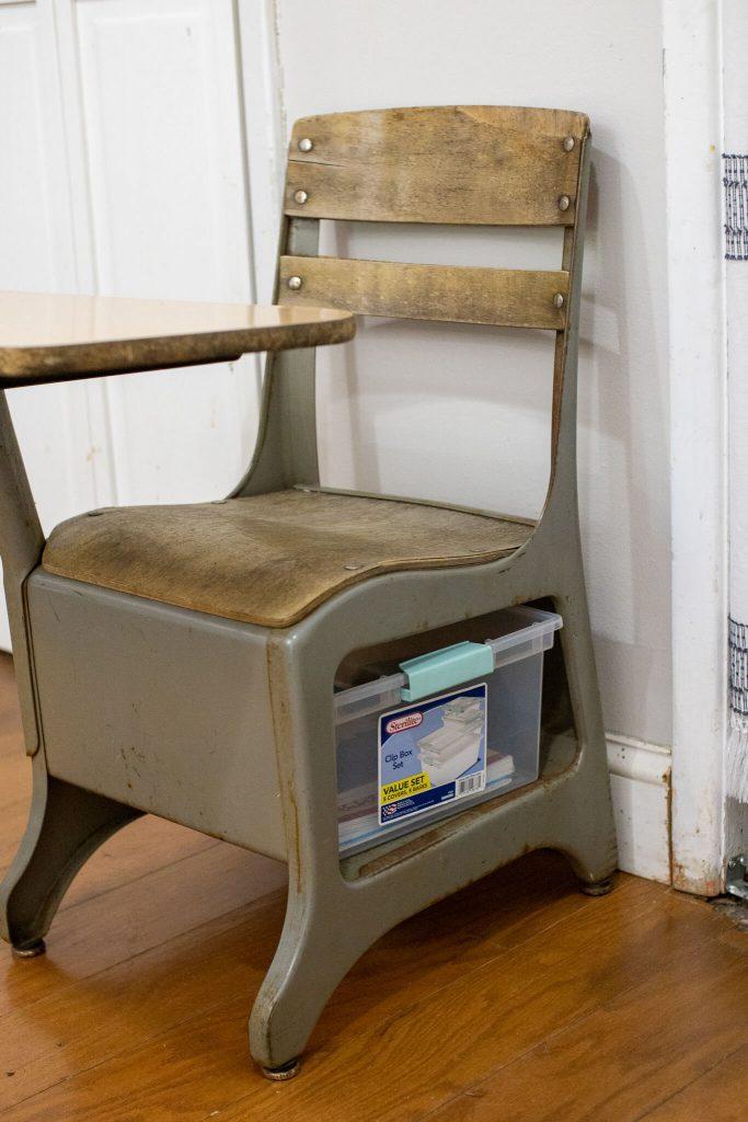 small vintage school desk