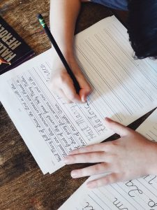 Homeschool Teaching handwriting