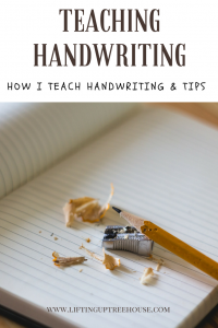 Teaching D'Nealian handwriting