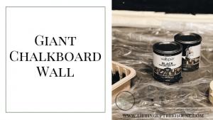 chalkboard paint on concrete wall