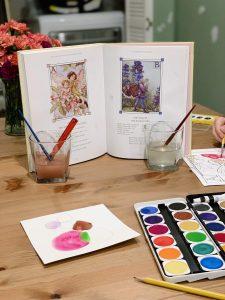 Alphabet flower fairy painting
