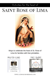 Saint Rose of Lime printables