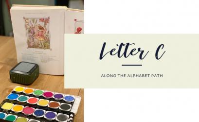 along the alphabet path letter c