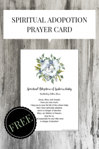 printable spiritual adoption prayer