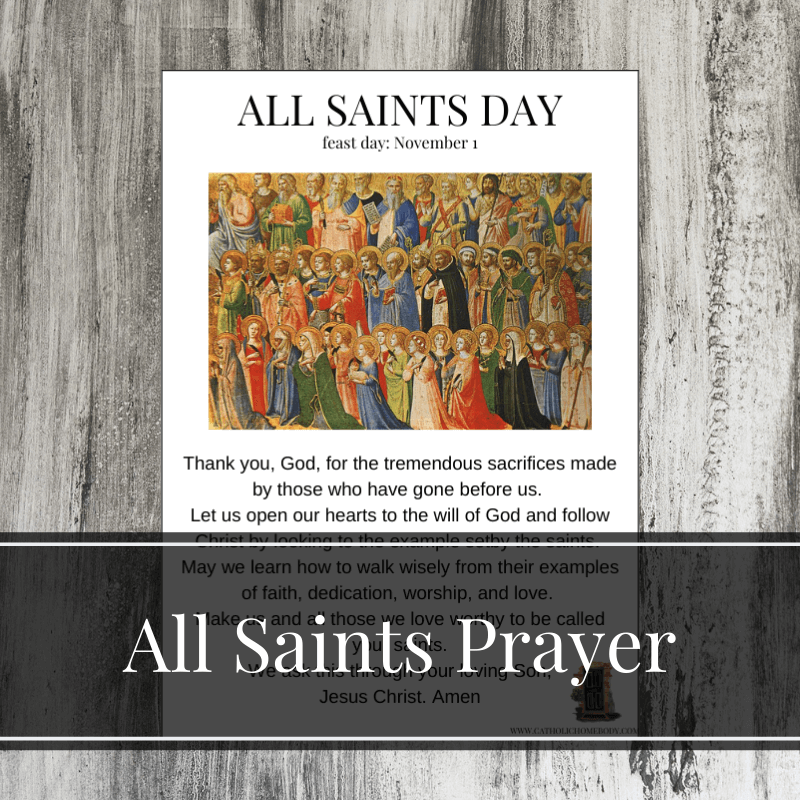All Saints and All Souls Day printables