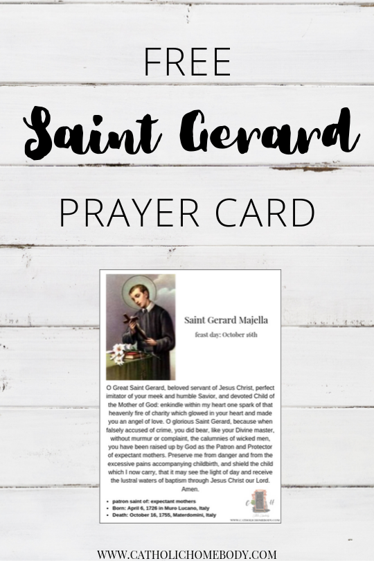 Saint Gerard feast day activities and printables
