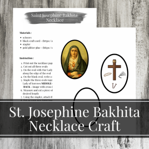 Saint Josephine Bakhita Craft