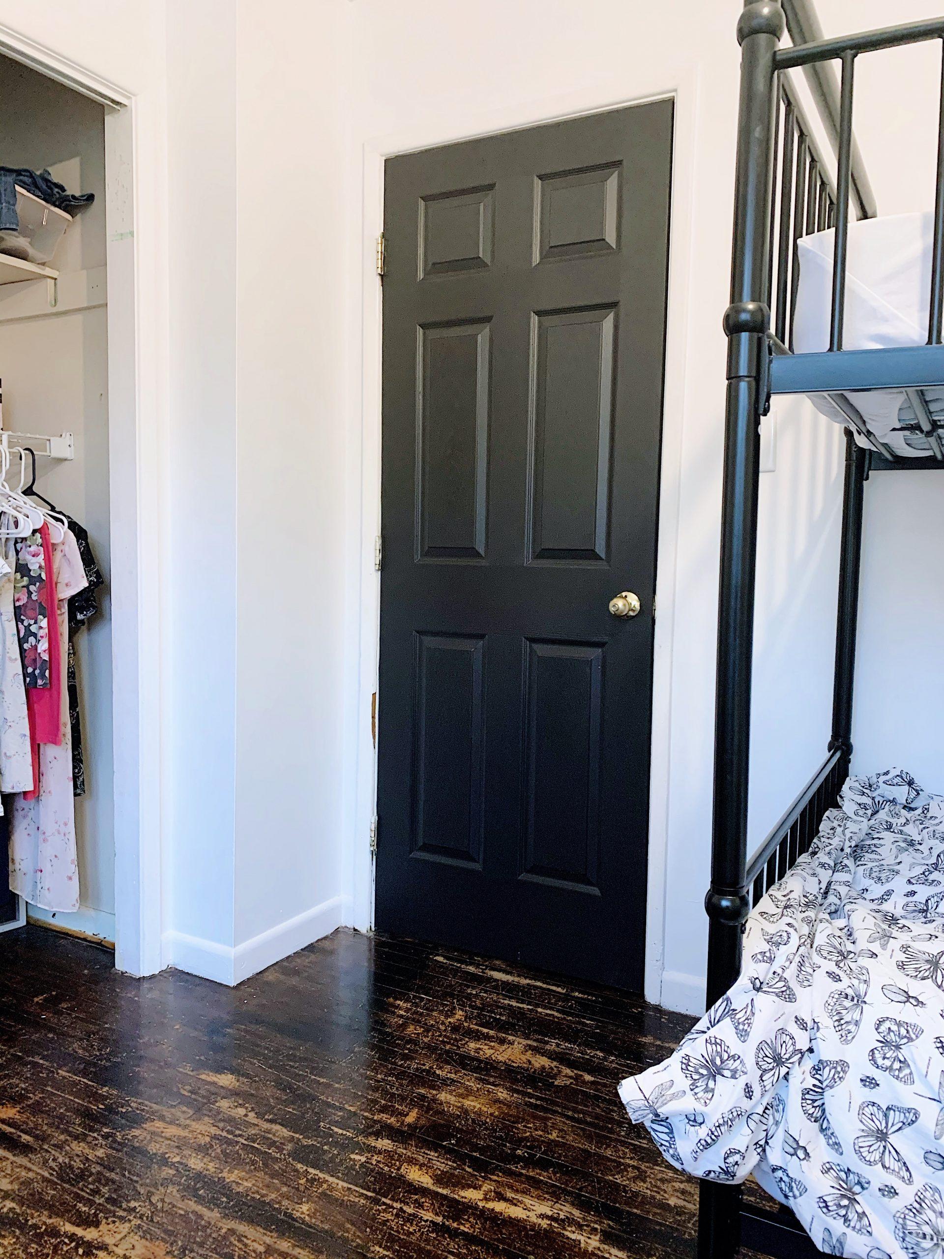 black interior doors in benjamin moore black beauty paint