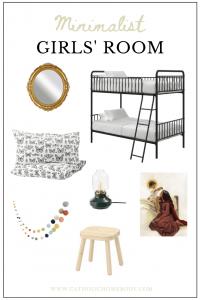 minimalist shared girls bedroom