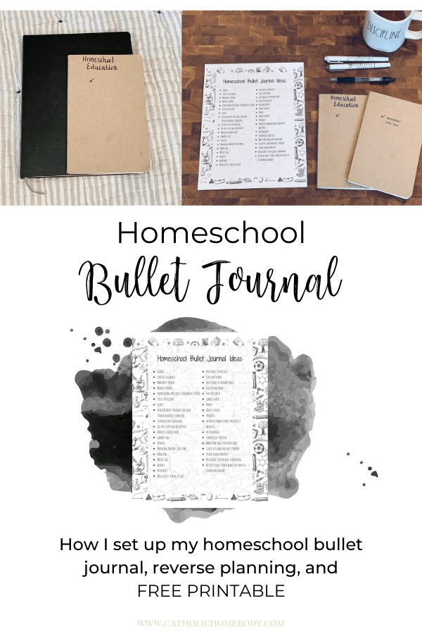 homeschool bullet journal planner