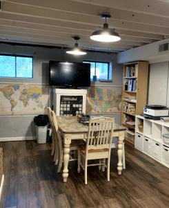 homeschool room in basement