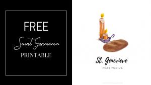 catholic saint genevieve printable