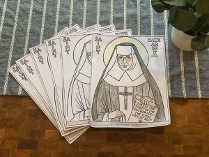 saint katherine drexel coloring page