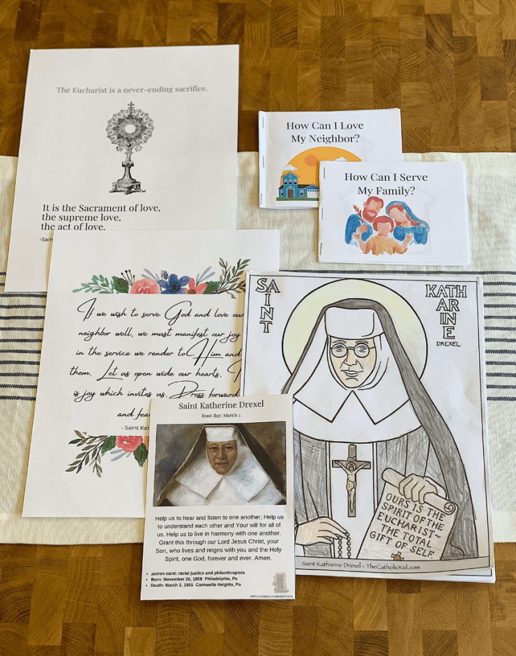 printables for Saint Katherine Drexel