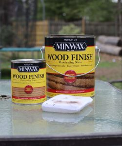 mixing Minwax stain for wood shelves